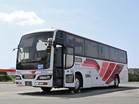 西鉄高速バス「桜島号」 9134 北熊本SAにて その3