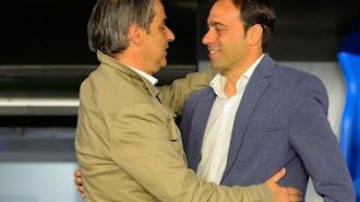 Fran saluda a Natxo González.