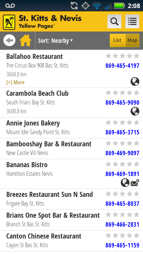 St. Kitts Nevis Yellow Pages- screenshot