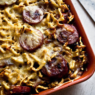 Spaetzle With Kielbasa and Caramelized Onions