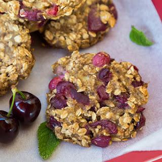 Cherry Almond Oatmeal Cookies.