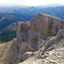 Photo: Taken near summit of Crown, looking at Haystack Butte