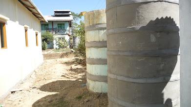 Photo: Water storage tanks.