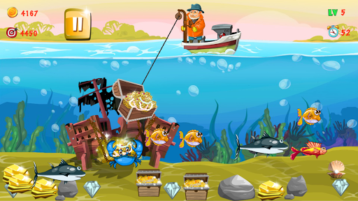 Gold miner, Fishing, gold rush apkmr screenshots 6