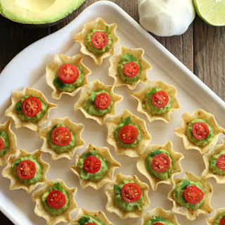 Gluten-free Chip and Guacamole Bites.