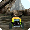 3D Car Racing Rocky Landscape icon
