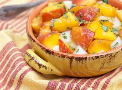 Jen's Peach Salsa