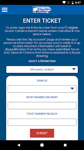 South Carolina Education Lottery App App Report on Mobile Action