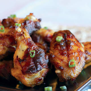 Glazed & Baked Chicken Wings with Mango and Lime.