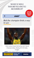 Screenshot of IAAF.org