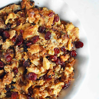 Cranberry Apple Sausage Stuffing