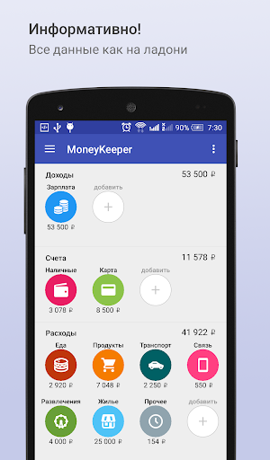 MoneyKeeper. Учет расходов.