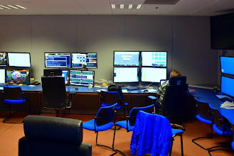 Photo: The collider control room