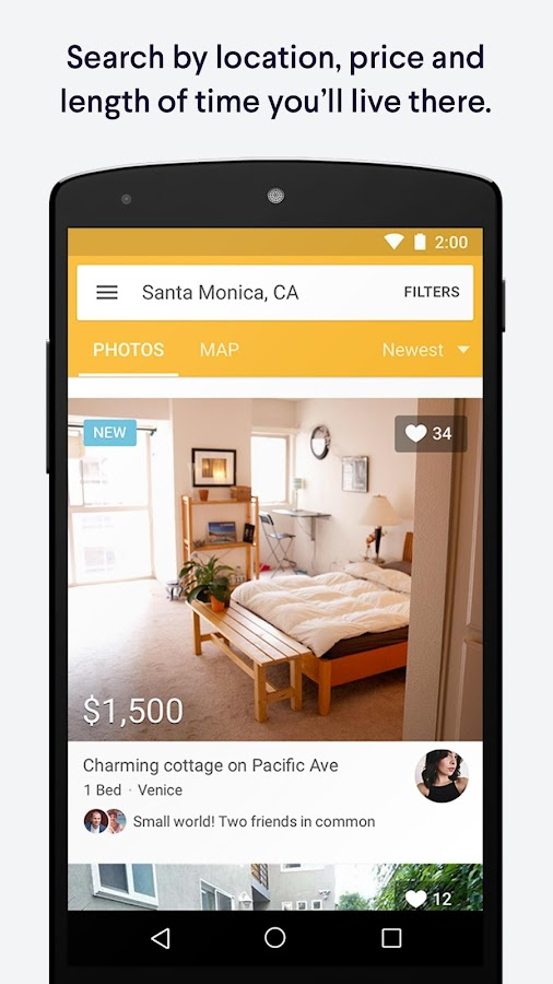 RadPad: Apartment Finder App- screenshot