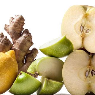 Apple-Lemon-Ginger Juice.