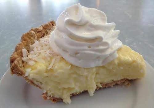 """Click Here for Recipe: Great Grandma's Coconut Cream Pie """"Yummy!!!! Will definitely..."""