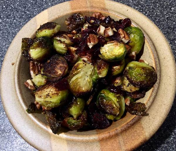 Cranberry & Pecan Roasted Brussels Sprouts Recipe