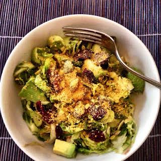 Raw Vegan Brussel Sprouts Salad.