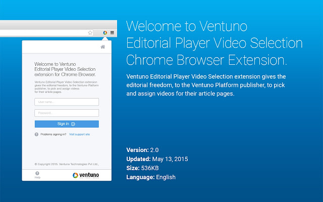 Ventuno Editorial Player Video Selection