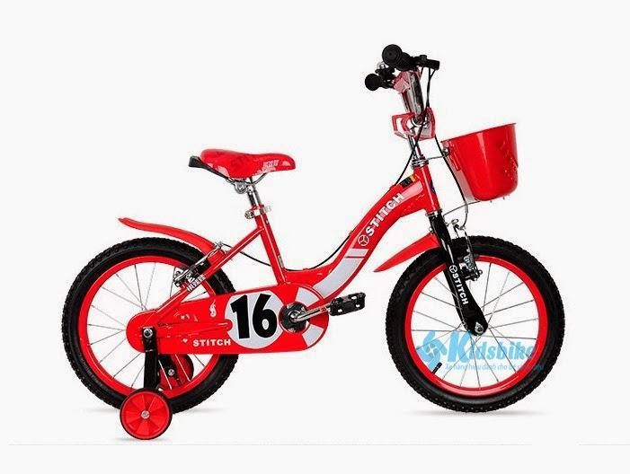 Xe đạp trẻ em Stitch-16 màu đỏ