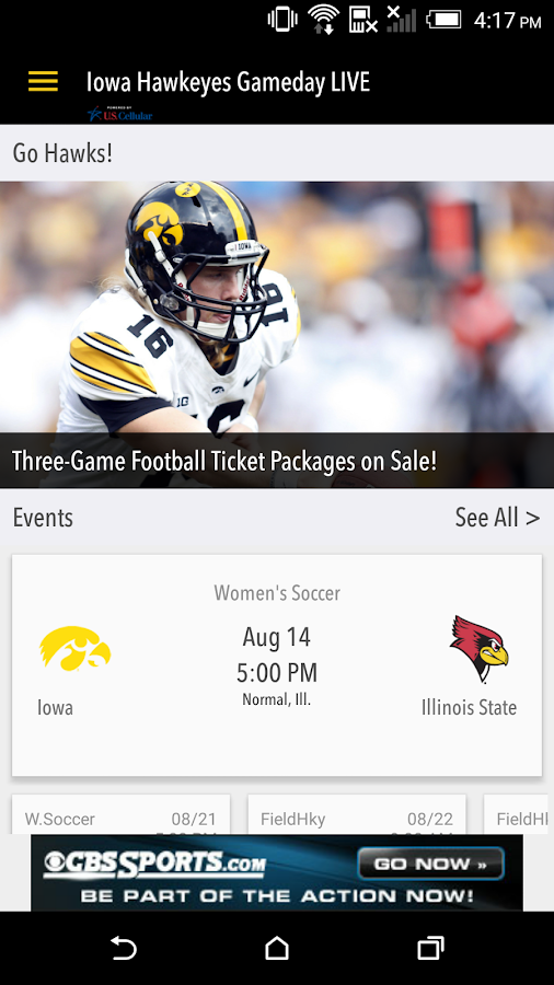 hawkeyesports.com Gameday LIVE- screenshot