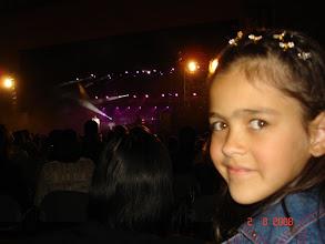 Photo: Daniele durante o show.
