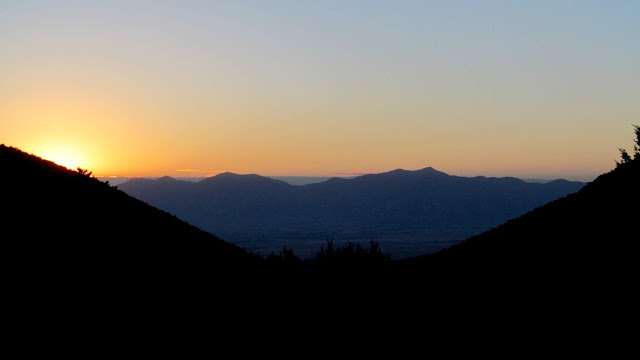Sunrise and the Oquirrh Mountains