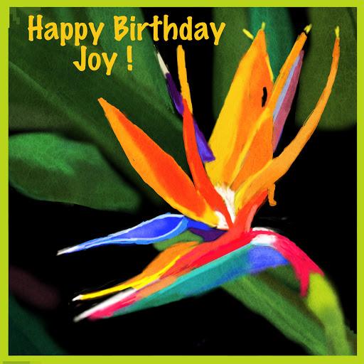 Happy Birthday Joy! By Hawaiian Misty (Pam