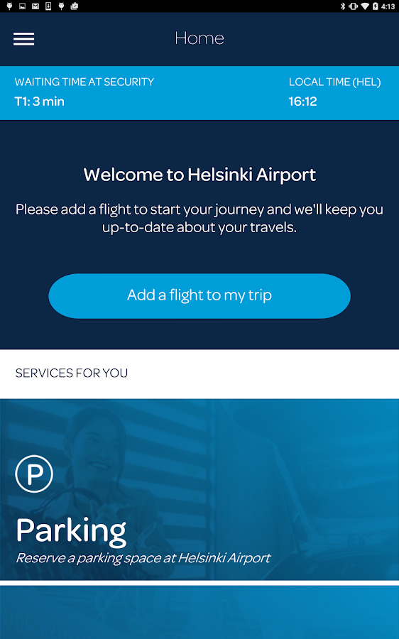 Helsinki Airport- screenshot