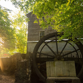 Freemans Mill by James Woodward - Buildings & Architecture Public & Historical ( georgia, historic, old building, antique, grist mill )