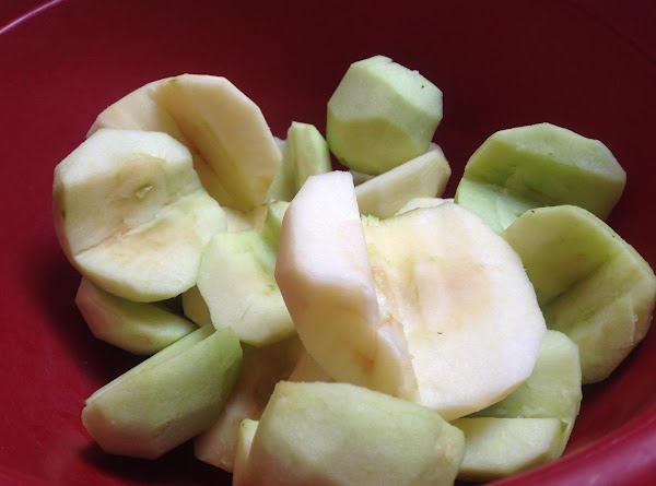Wash core and Peel apples. I used MY FITNESS PAL TO CALCULATE THE NUTRITIONAL...