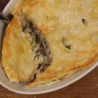 Mushroom, Asparagus and Kale Pie.