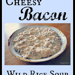 Cheesy Bacon Wild Rice Soup