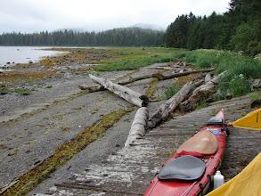 Photo: My campsite on Mitkof Island.