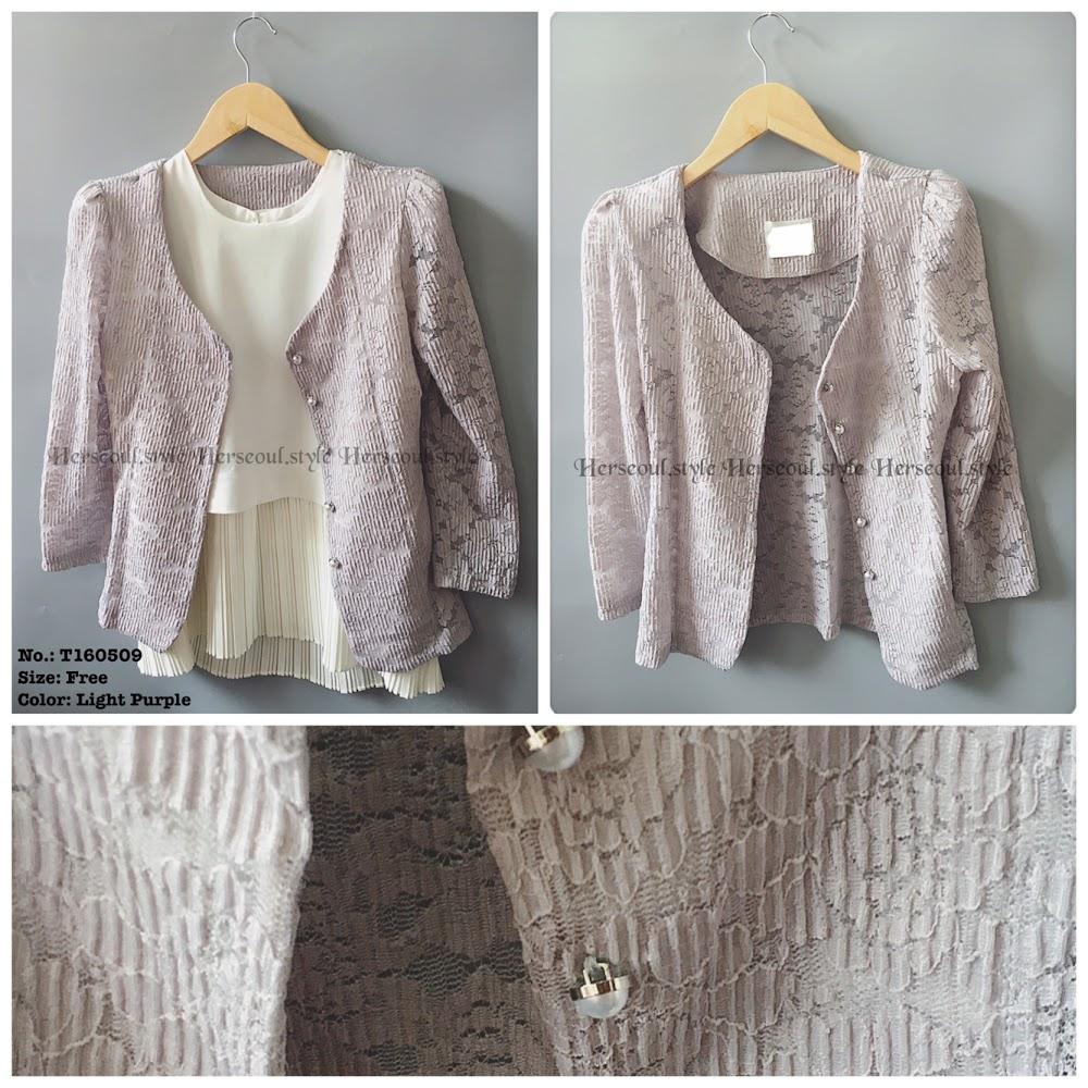 粉紫喱士外套