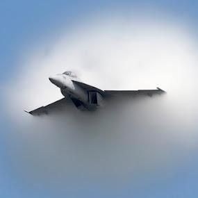 Hornet Cloud by Patrick Barron - Transportation Airplanes ( f-18 f/a-18 super hornet f18 vapor cloud cleveland airshow air show jet plane airplane fast afterburner mach,  )