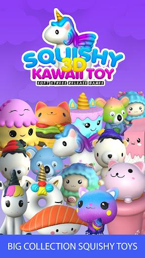 Jouets 3D Squishy kawaii soft stress jeux  captures d'u00e9cran 1