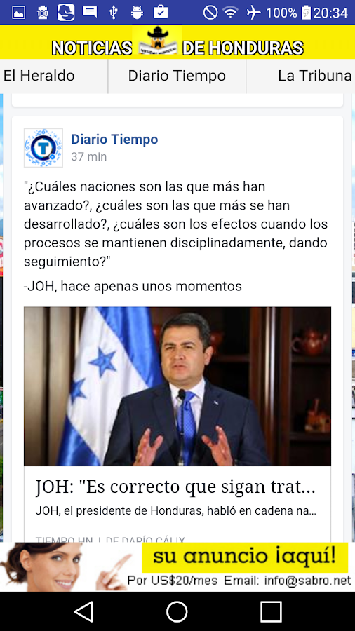 Noticias de Honduras HN News- screenshot