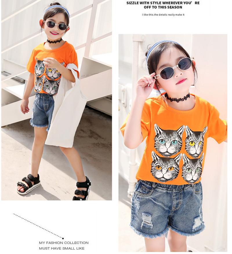 T-shirt dziecięcy pomarańczowy