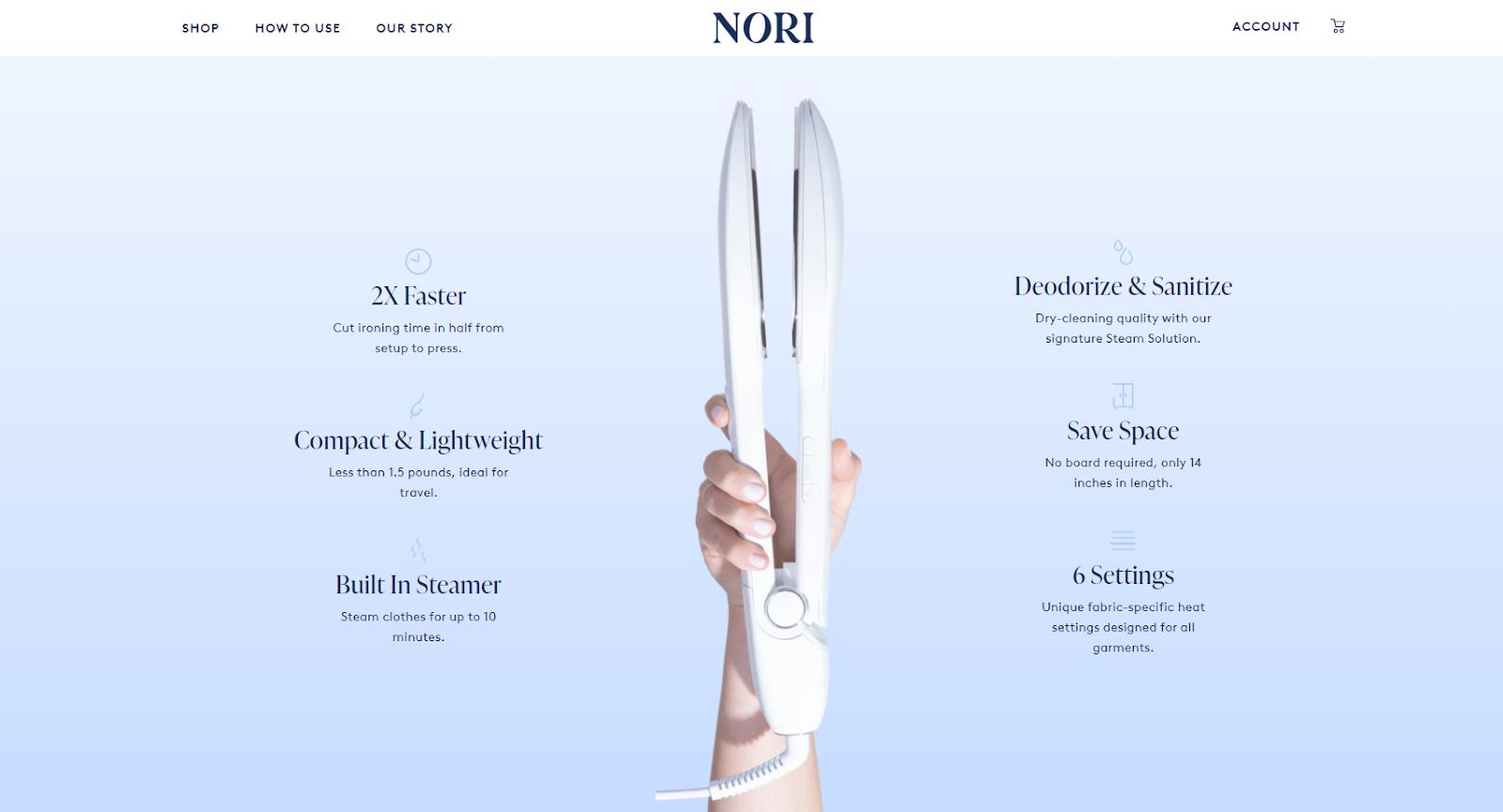 Nori homepage