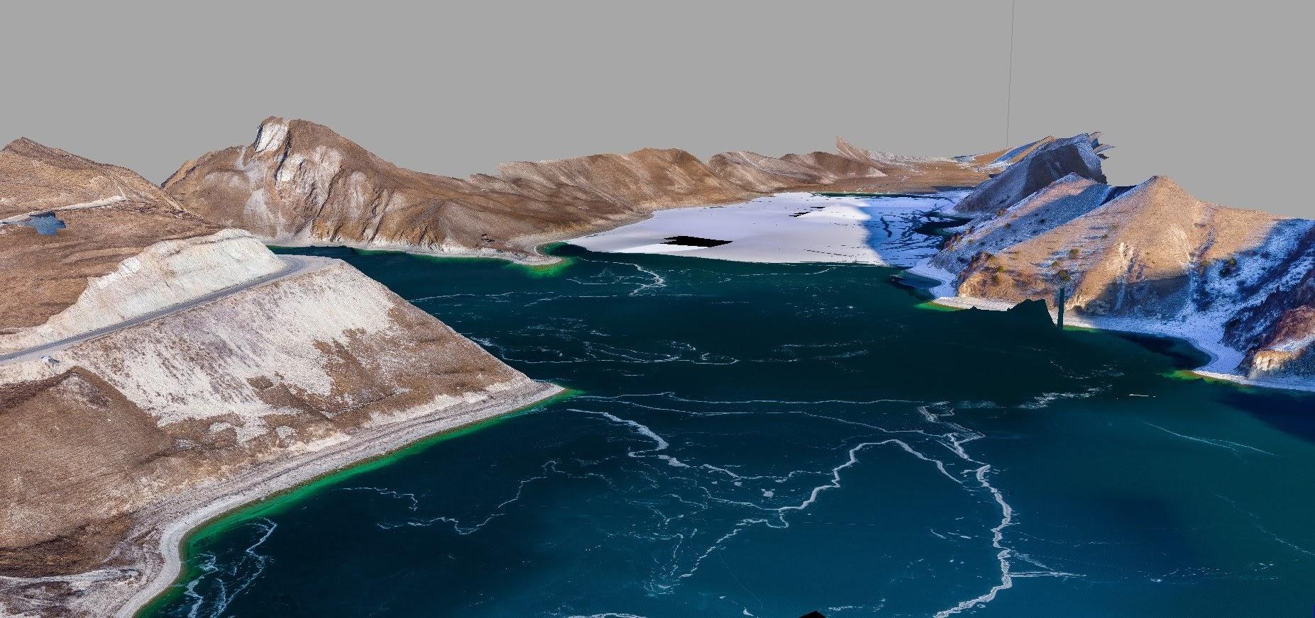 Фотограмметрическая модель озера Кезенойам
