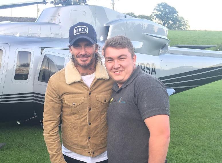 Beckham visits Llanrhaeadr!