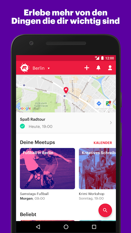Meetup – Screenshot