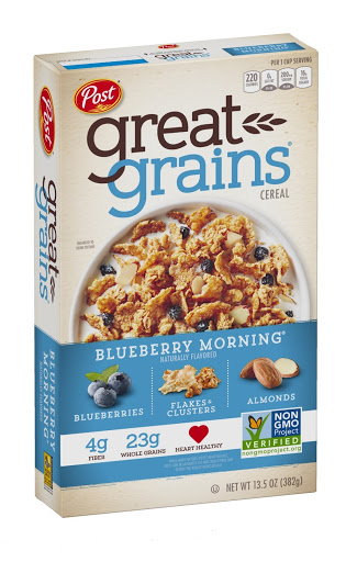 Cereal Post Great Grains Blueberry Morning 382 Gramos Great Post Grains Blueberry Morning