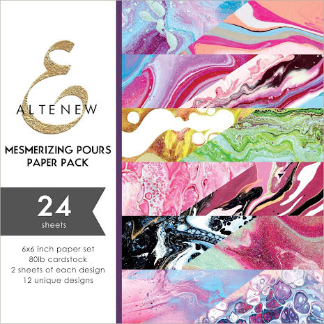 Altenew 6X6 Paper Pack - Mesmerizing Pours