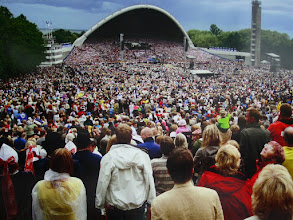 Photo: In this 1988 photo, brave Estonians showed their unity against the Soviet occupation by singing songs about Estonia.  A few years later, Estonia became an independent country.