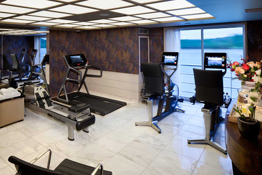 Stay in shape in the fitness center on board AmaCerto.