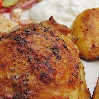 Greek Lemon Chicken and Potato Bake