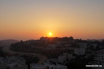 Photo: 19 h 30, coucher de soleil sur Ramallah