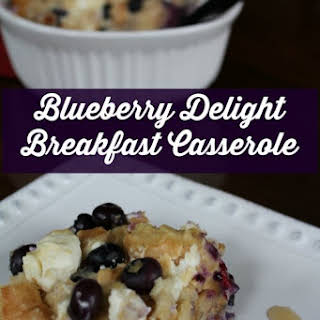 Blueberry Delight Breakfast Casserole.